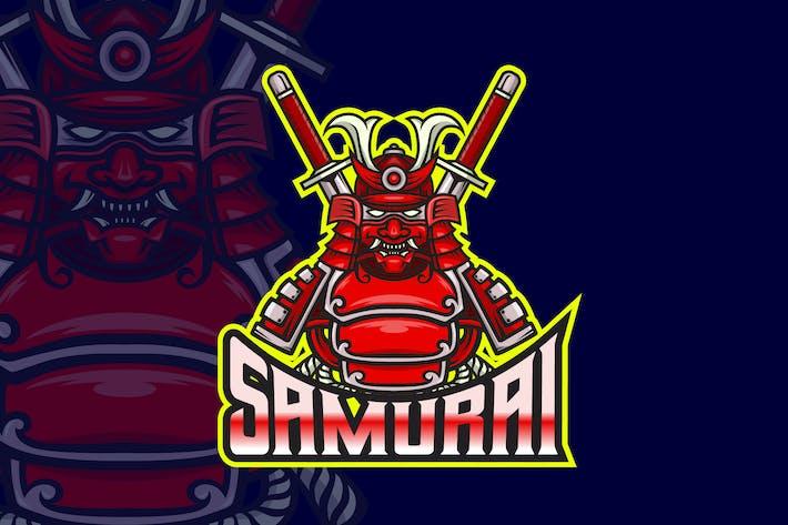 Thumbnail for Samurai - AI and PSD Esport Logo Template