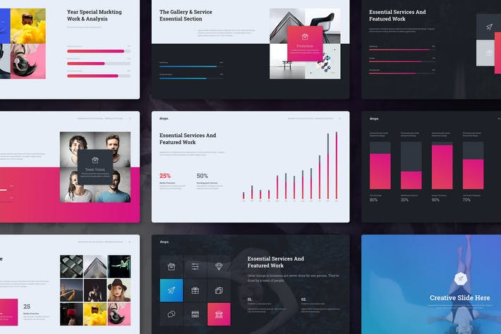 Thumbnail for Drops - Creative & Multipurpose Theme (Keynote)
