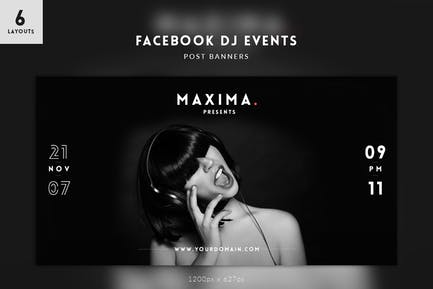 DJ Events Facebook Post Banners
