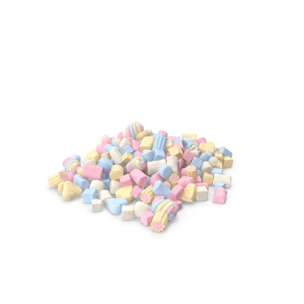 Pile Of Mixed Marshmallows