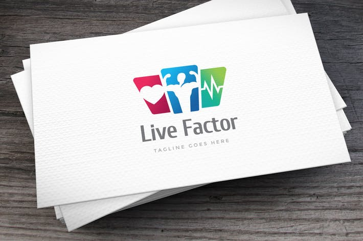 Cover Image For Live Factor Logo Template