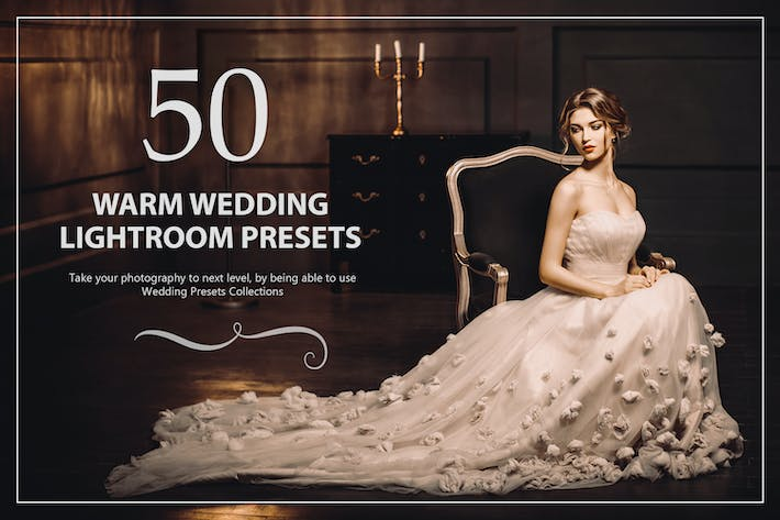 Thumbnail for 50 Warm Wedding Lightroom Presets