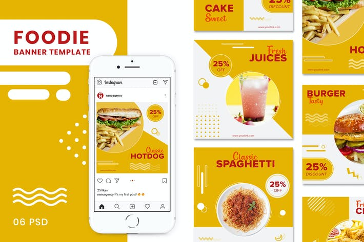 Thumbnail for Food Instagram Banner Templates