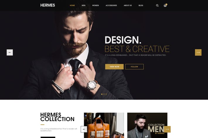 Thumbnail for Hermes - Ecommerce PSD Template