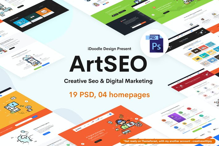 Thumbnail for ARTSEO - SEO & Digital Marketing PSD Template