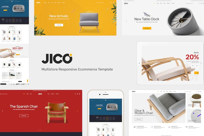 Thumbnail for Jico - Furniture Responsive Prestashop Theme