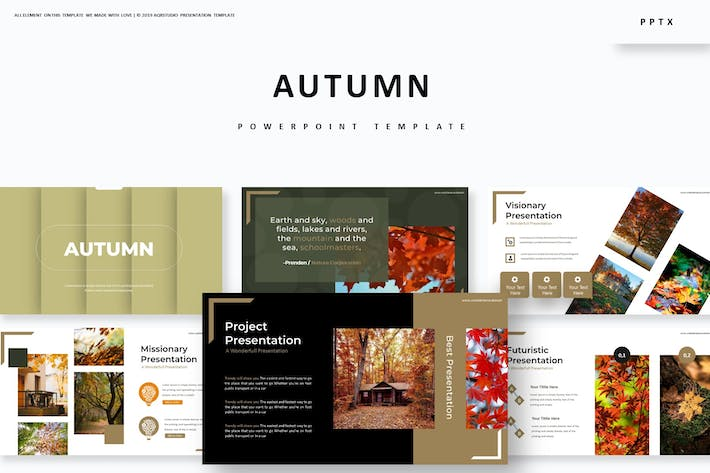 Cover Image For Autumn - Powerpoint Template