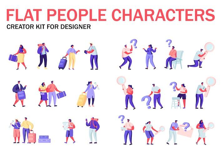 Thumbnail for Flat People Character Creator Kit