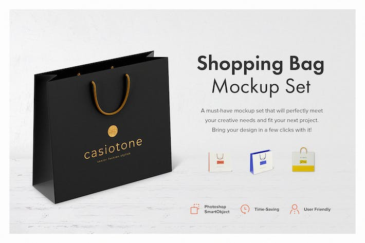 Thumbnail for Shopping Bag Mockup Set