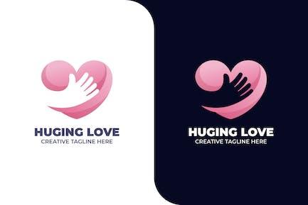 Love Hug Charity Friendship Gradient Logo