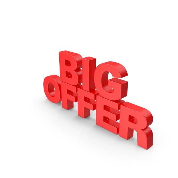 Big Offer 3D Text