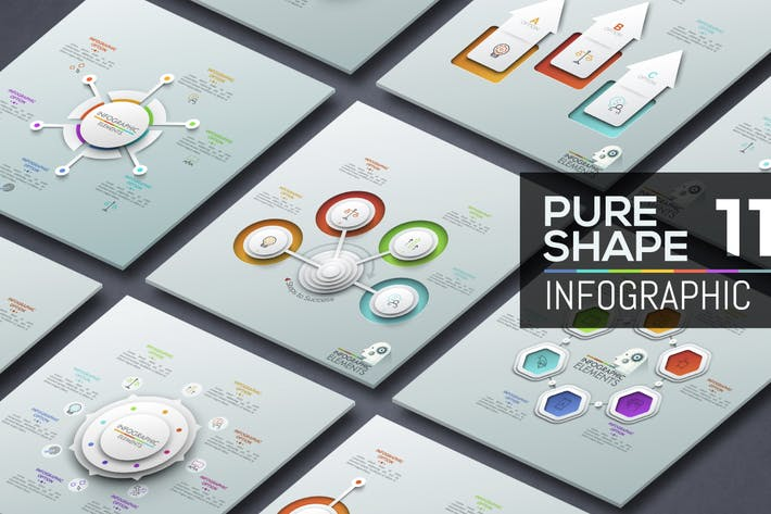 Thumbnail for Pure Shape Infographic. Part 11