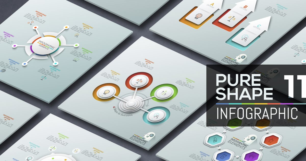 Download Pure Shape Infographic. Part 11 by Andrew_Kras