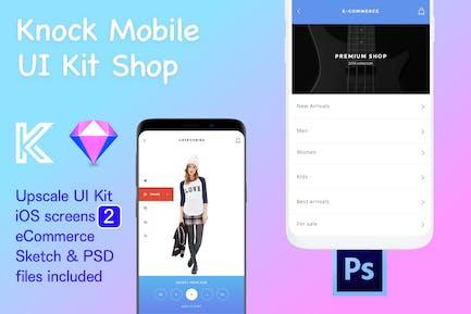 Knock Mobile UI Kit eCommerce - 2 Screens