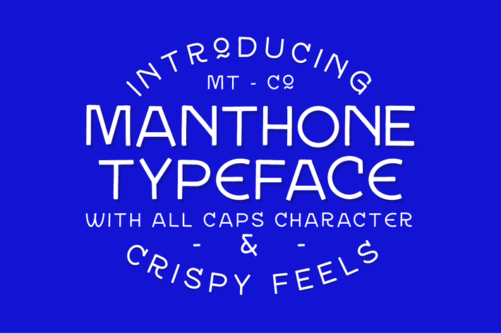 Thumbnail for Manthone Typeface