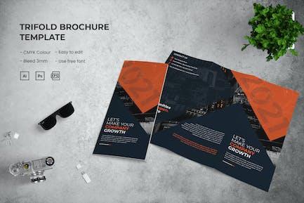 Croissance de l'entreprise - Brochure à trois