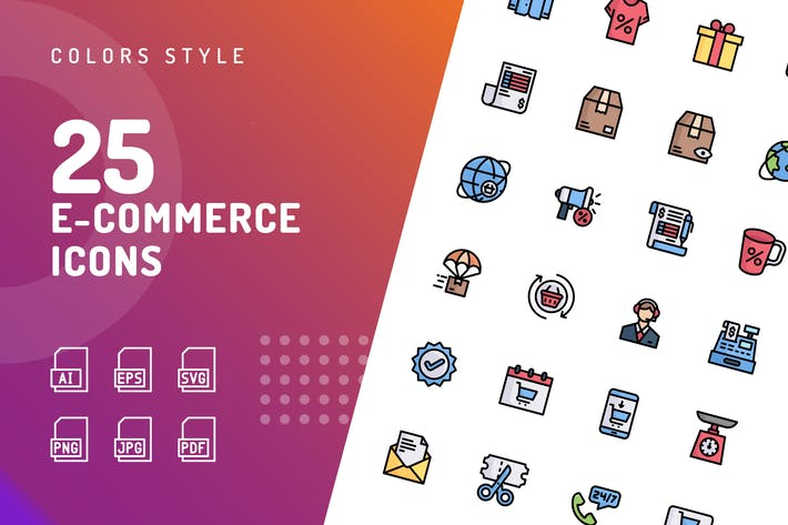 Thumbnail for E-Commerce Color Icons