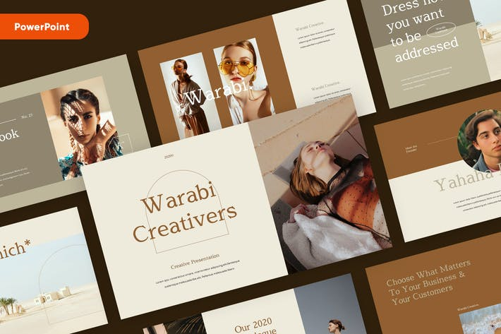 Thumbnail for WARABI - Fashion Lookbook PowerPoint Template