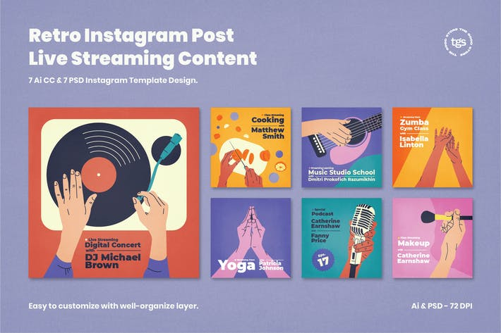 Thumbnail for Retro Instagram - Live Streaming  & Podcast Cover