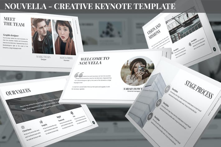 Cover Image For Nouvella - Creative Keynote Template