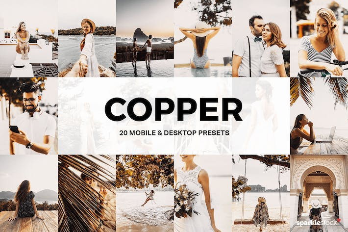 Thumbnail for 20 Copper Lightroom Presets and LUTs
