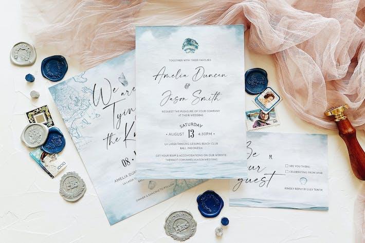 Thumbnail for Suite d'invitation de mariage nautique