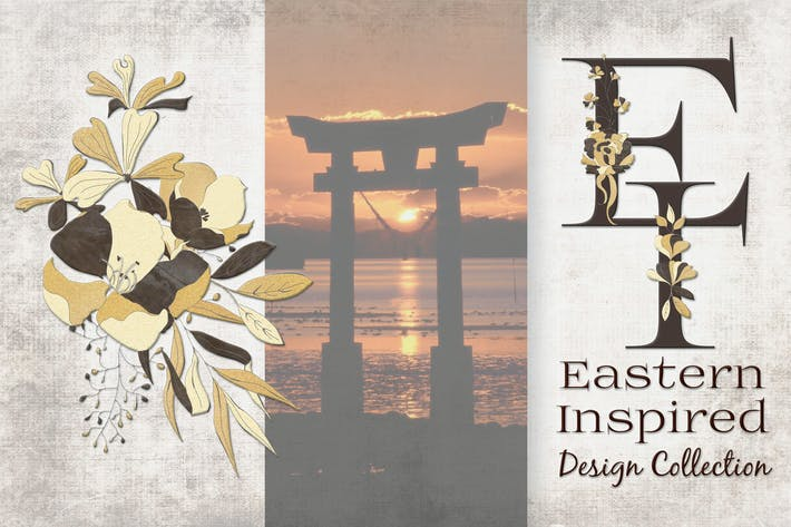 Thumbnail for Black and Gold Eastern Design Set
