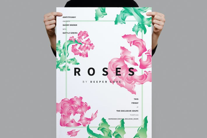 Cover Image For Roses Summer Flyer / Poster