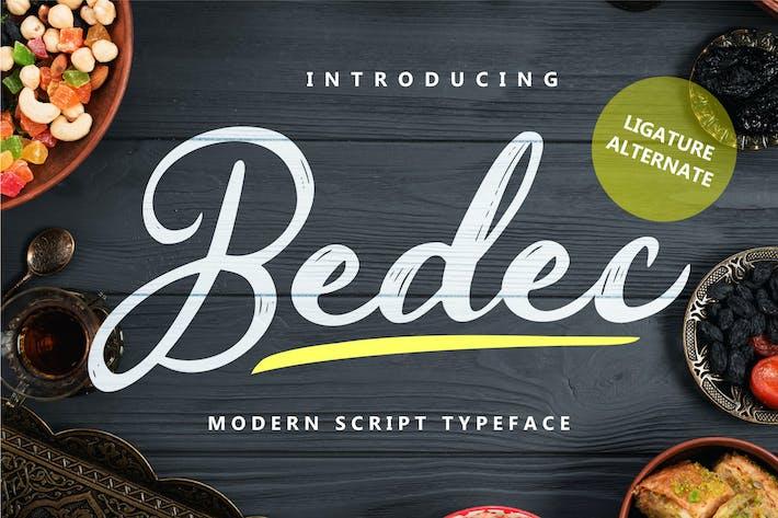 Thumbnail for Bedec - Modern Script Typeface