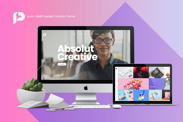 Thumbnail for Pisces-Multi Concept Creative PSD Template