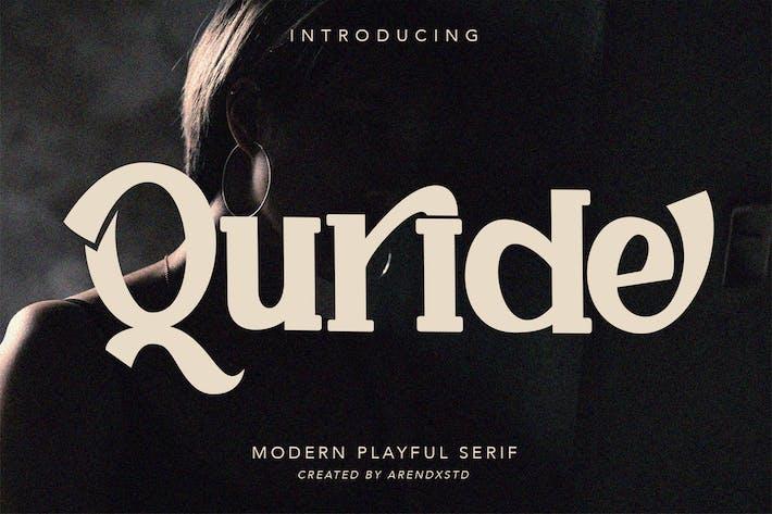 Thumbnail for Quride - Mostrar fuente Con serifa