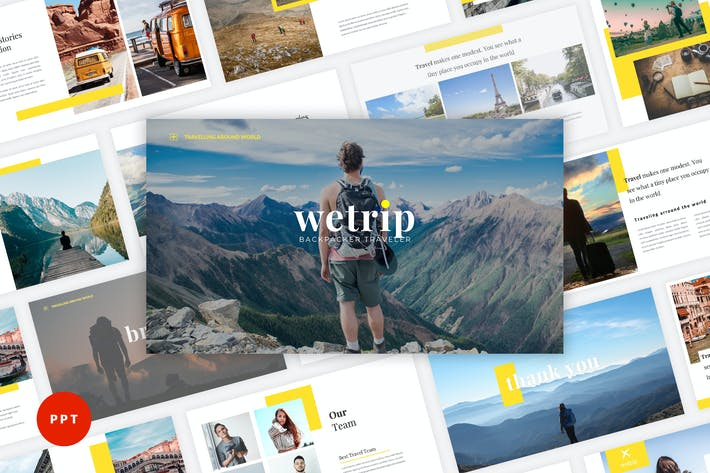 Thumbnail for Wetrip - Backpackers PowerPoint Template