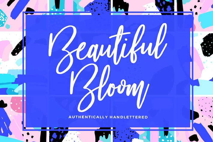 Thumbnail for Beautiful Bloom Typeface