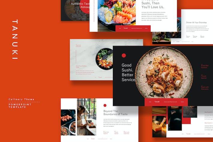 Thumbnail for Tanuki - Culinary & Restaurant Powerpoint Template