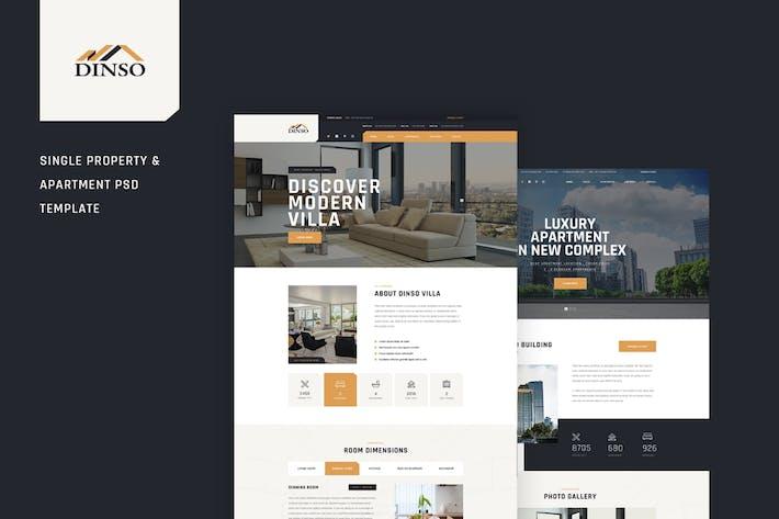 Thumbnail for Dinso - Single Property & Appartement PSD Modèle