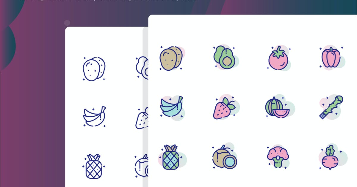 Download Vegetable and Fruit Icon Pack by inspirasign