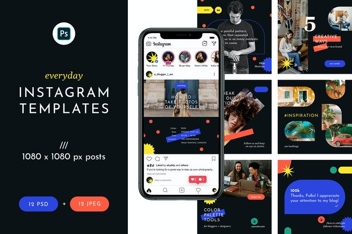 Thumbnail for Everyday Instagram Templates