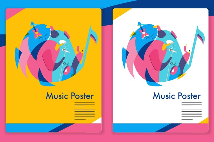 Thumbnail for Music Graphic - Mixcolor style vector 4