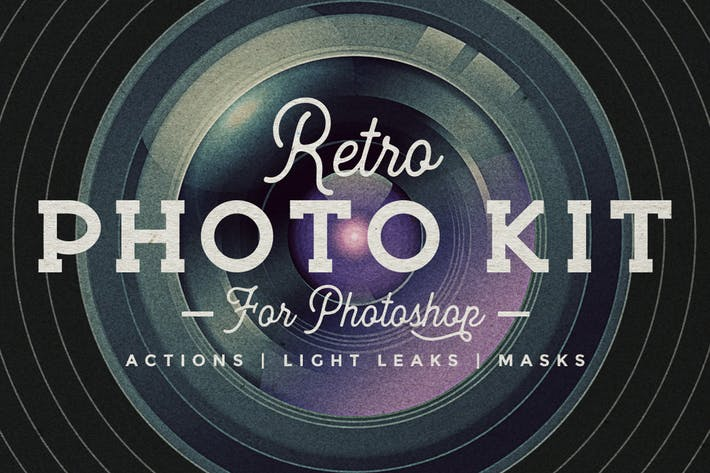 Thumbnail for Photoshop Retro Photo Kit