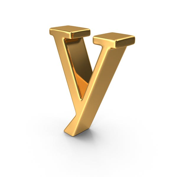 Gold Small Letter Y