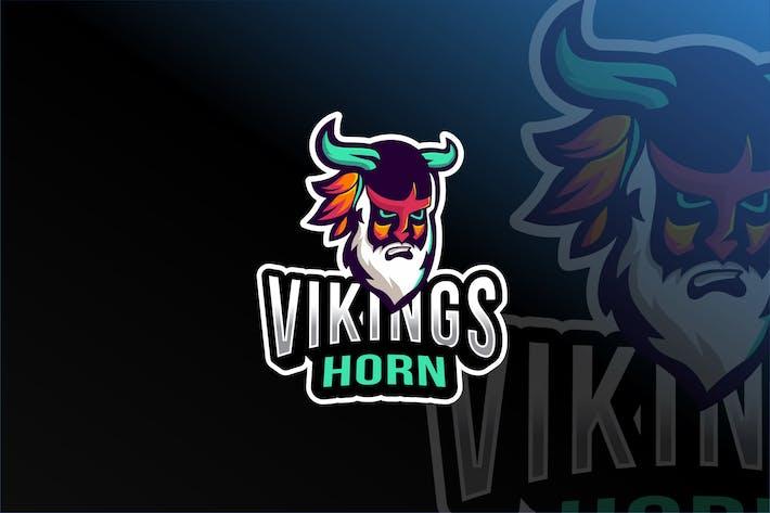 Thumbnail for Viking Horn Esport Logo Template
