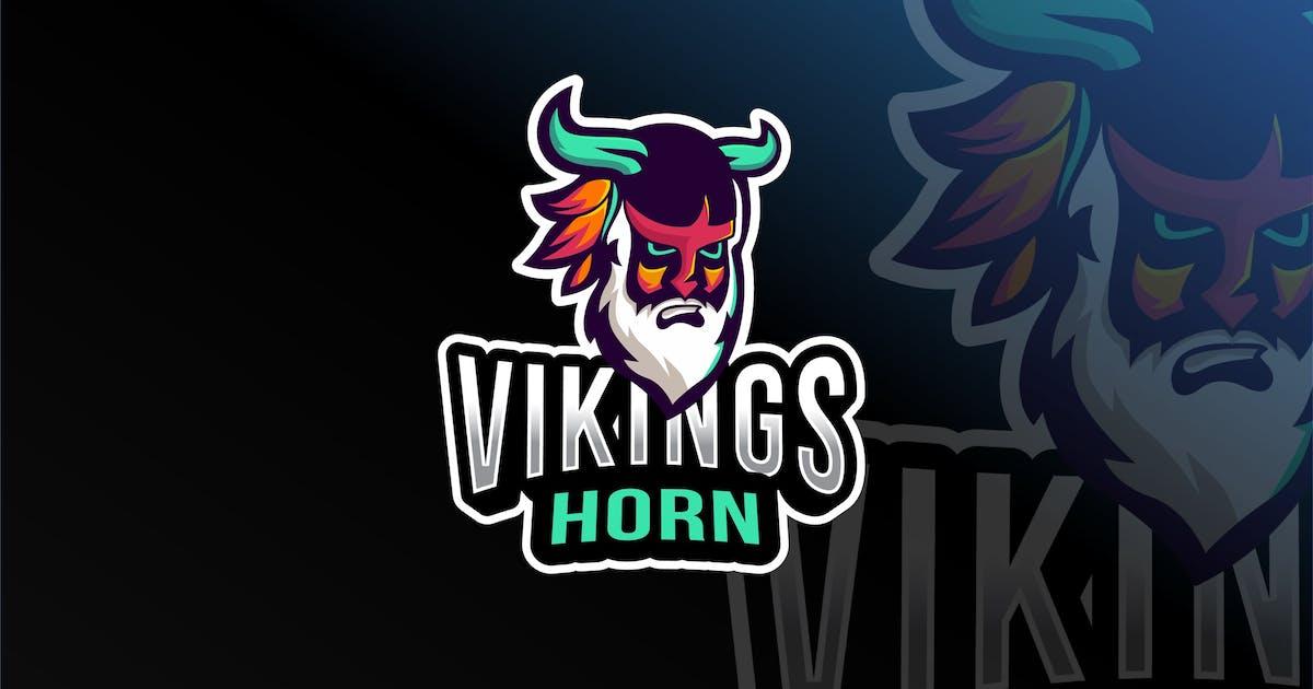 Download Viking Horn Esport Logo Template by IanMikraz