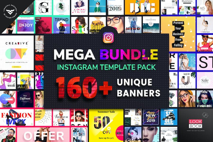 Thumbnail for Instagram Mega Bundle Template Pack