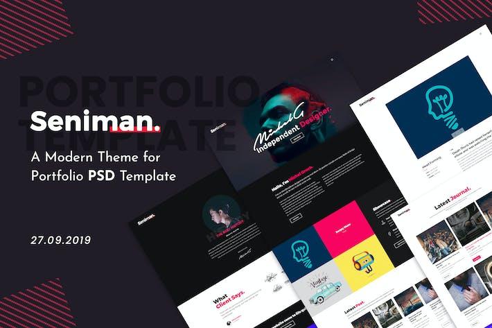 Thumbnail for Seniman   Modern Portfolio PSD Template 1