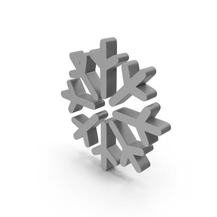 Schneeflocke Wettersymbol