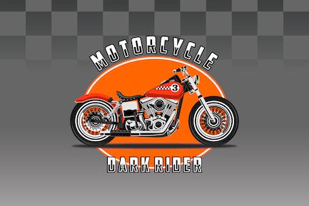 Bobber Bike - Vector Illustration