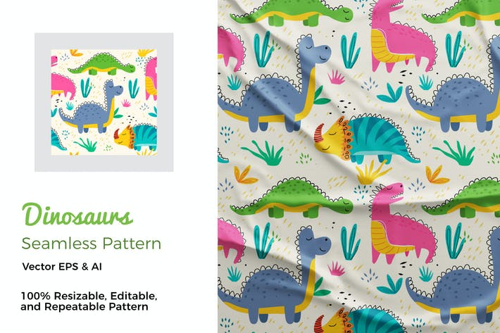 Thumbnail for Dinosaurs Pattern