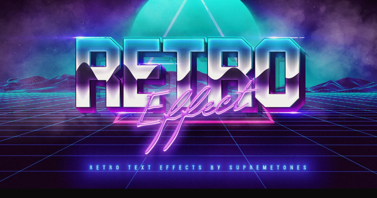 Download 80's Retro Text Effect by SupremeTones