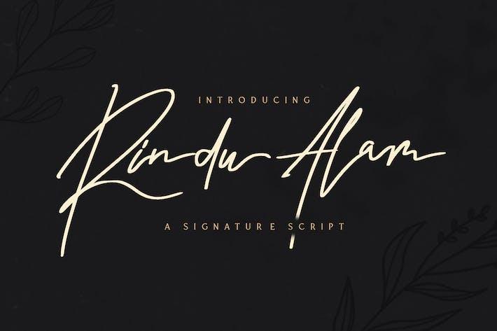 Rindu Alam - Signature Script Font
