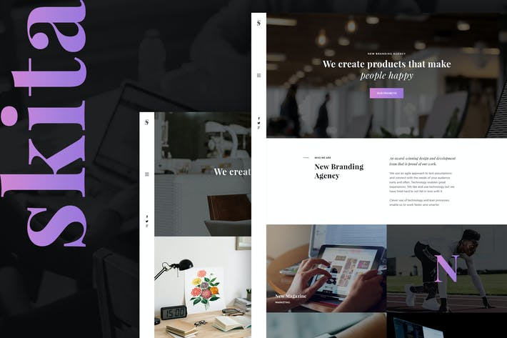 Cover Image For Skita - Clean & Modern Agency PSD Template